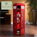 Британский стиль телефонной будки старинные детей творческий стеллаж книжная полка простой шкаф декоративные магазин содержание полка