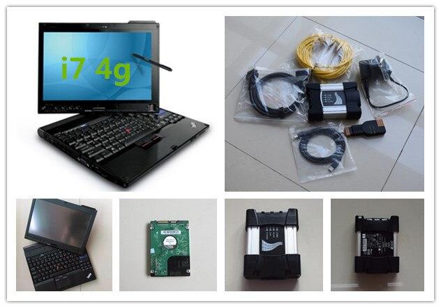 Per bmw diagnose scanner per bmw icom prossima nuova versione per icom a3 con hdd 500 gb software con x201t del computer portatile i7 4g pronto per l'uso