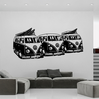 Art Design Wall Sticker 3 Volkswagen Surf Vans Home Decor DIY Car Wall Decals House Decoration