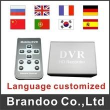 Language customized 1 CHANNEL SD DVR, 64GB SD CARD auto recording, overwriting, mini cctv dvr