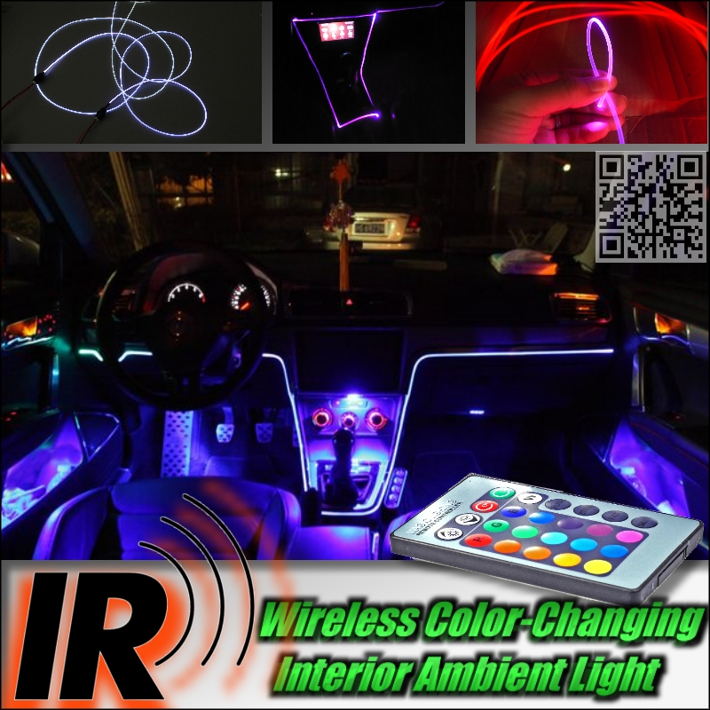 wireless ir control car interior ambient 16 color changing light dashboard light for ford flex. Black Bedroom Furniture Sets. Home Design Ideas
