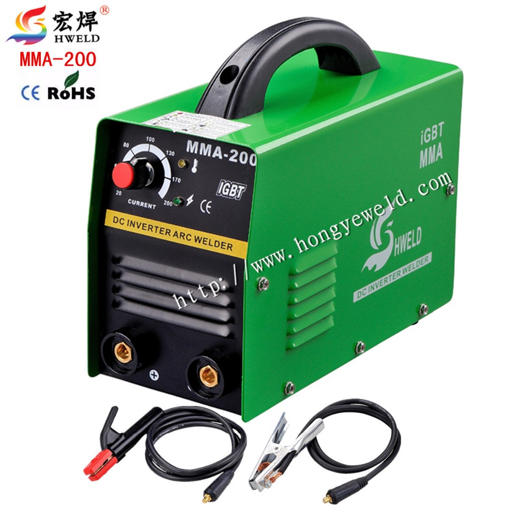 цена на Inverter Welding Machine 220v Input Protable Inverter DC IGBT Micro MMA200 IGBT With Accessories