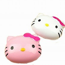 1 шт hello kitty контактные линзы коробка кошачья голова футляр для очков из пластика