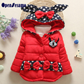 LOVELY MICKEY Baby Girls White Duck HOODED Winter Down Jacket  Girl Light Warm Down Coat Girl's Down Parkas IN THREE COLORS