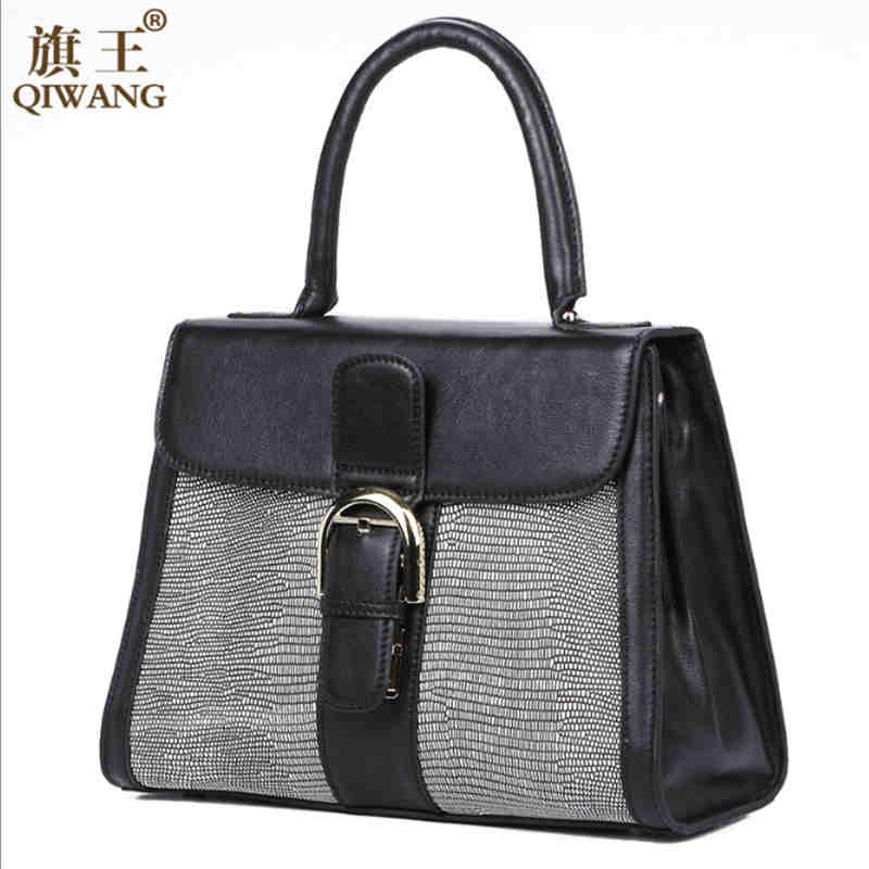 Qiwang NEW England Designers Real Leather font b Handbag b font Luxury Brand 100 Cowhide Leather