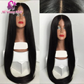 7A Brazilian virgin hair 4x4 Silk top full lace human hair wigs glueless middle part silk base lace front wigs for black women