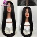 7A brasileiro virgem cabelo 4 x 4 Silk top full lace perucas de cabelo humano glueless oriente parte seda base de rendas frente perucas para as mulheres negras