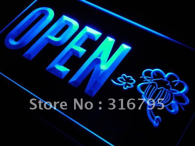 j819 OPEN Irish Pub Bar Beer Club LED Neon Light Sign
