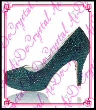 Aidocrystal Benutzerdefinierte Handmade Grün Kristall High Heel Brautschuhe Hochzeit Schuhe