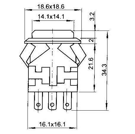 KD2-21 с встроенной функцией спуска затвора кнопочный переключатель со светодиодной лампы DC3V