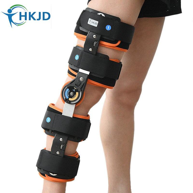 HKJD de QUALITÉ MÉDICALE Réglable Articulé Genou Leg Brace Soutien et Protéger Genou Brace Soutien
