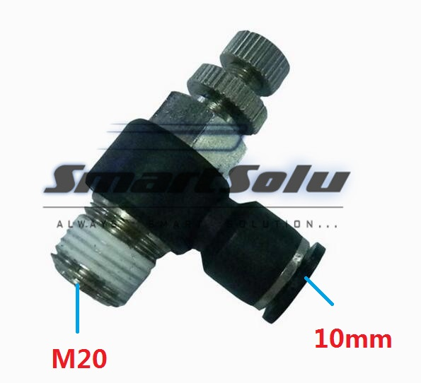 Free Shipping10pcs/lot SL10-M20 Pneumatic Throttle Valve,Quick Push In 10MM Tube M20 Inch Air Fitting Flow Controller 5pcs lot sspmm stainless steel anticorrosion food grade quick connect air tube accessories bulkhead union fitting sanmin