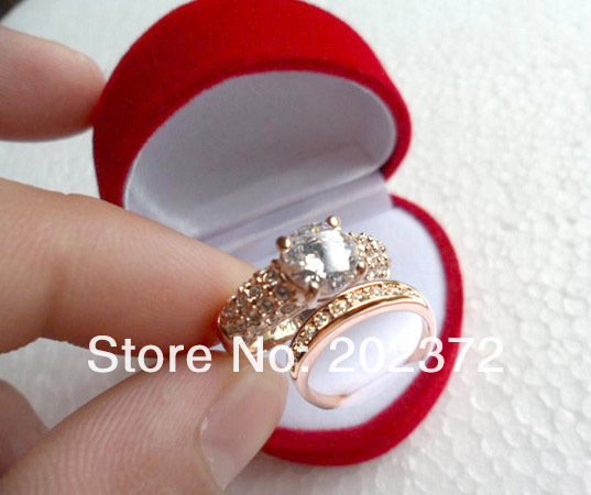 Classic White Gold Plated Zircon Wedding Ring Finger Ring
