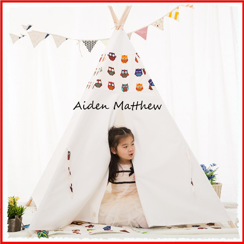 High Quality Cotton canvas Tent For Children Tipi Tents For Sale hot sale indian wood tent teepee tents for sale for sale teepee tent for party