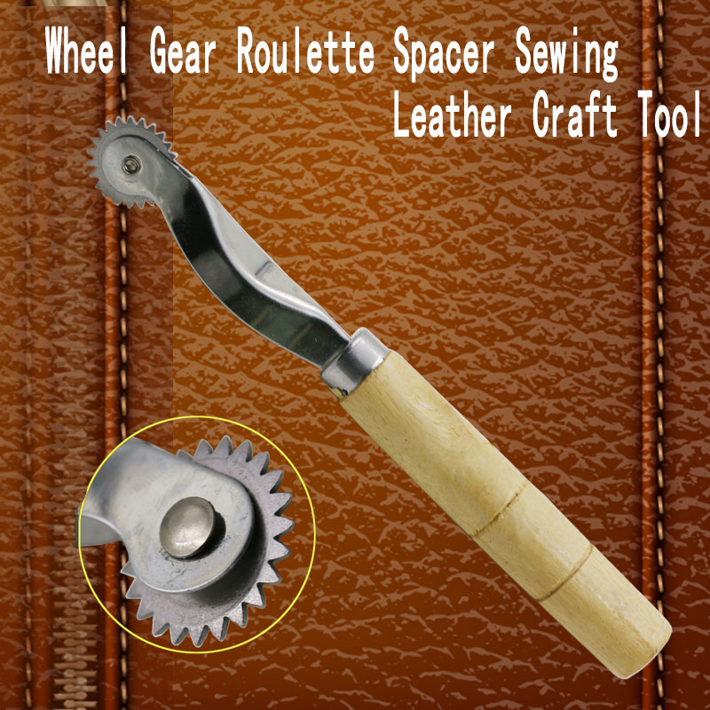 Free Shipping Stainless Steel Leather Cloth Paper Overstitch Wheel Gear Roulette Spacer Sewing Leather Craft Tool 2.5mm Gear