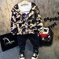 Primavera & Outono crianças jaquetas meninos camuflagem casacos de algodão hoodies dos miúdos crianças roupas de manga longa jaqueta blazer