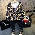 Primavera y Otoño los niños chaquetas niños chaquetas de algodón de camuflaje niños sudaderas de manga larga ropa de los niños rompevientos chaqueta