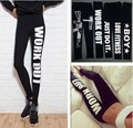 2016 New Work Out Letter Printed Leggings Fitness Sexy High Waist Stretched Skinny Pants Clothes Spandex