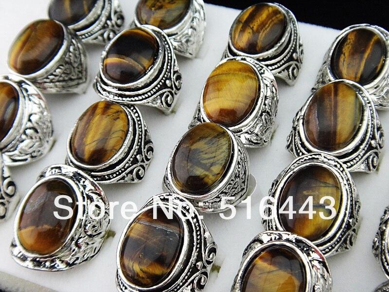 Christmas Sale 50 to 500 Pcs Rainbow,Tiger eye /& Mix Stone Brass Rings Lot