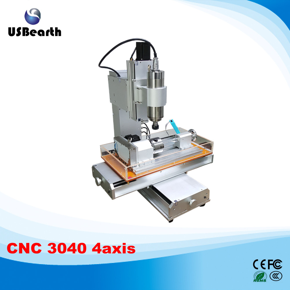 4 axis cnc 3040 pillar type engraving machine 1500W Table Column Type woodworking Ball Screw cnc router cnc 5axis a aixs rotary axis t chuck type for cnc router cnc milling machine best quality