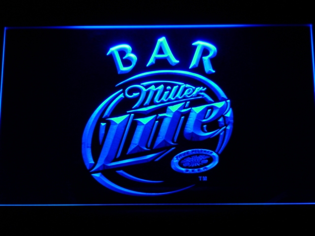 406 Miller Lite Bar Beer LED Neon Sign with On/Off Switch 7 Colors to choose