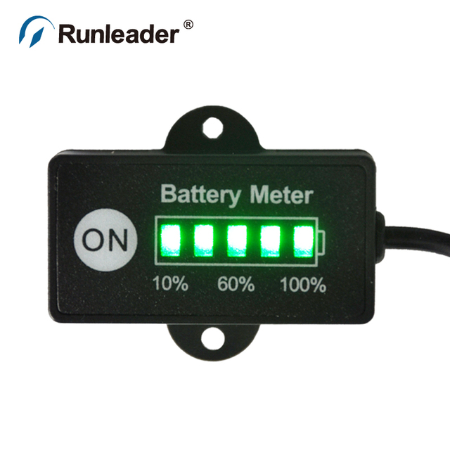 Runleader LiCoO2 12 24V Battery Indicator for motorcycle FORKLIFT ATV pit bike TRUCK golf cart lawn mower JET BOAT mini bike