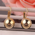 New 1Pair Small Imitate Spherical Ball Dangle Fashion Earrings Gold plated Long Earring Drop Shipping(E0275)