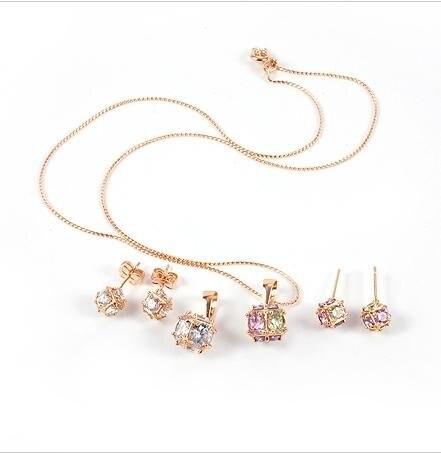 Fashion Jewelry Set Ball Zircon 18K Yellow Gold Jewelry Set18K