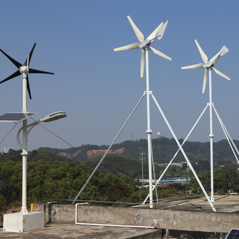 300W 24V wind turbine generator with 5 blades, low start wind speed with RoHS CE ISO9001 Certification China original design