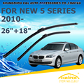 "Wiper blades para bmw novo série 5 f10 f11 (2010-) 2011 2012 2013 2014 2015 Car Windscreen Windshield Wiper Wiper Blade 26 ""+ 18"""