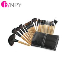 Professional 32PCS/LOT Makeup Brush Set Foundation Eye Face Shadows Lipsticks Powder Make Up Brushes Kit Tools Pouch Bag Case
