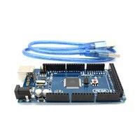 Free Shipping MEGA 2560 R3 ATmega2560 R3 AVR USB Board Free USB Cable For Arduino 2560