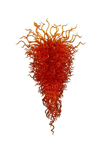 Beautiful Luxurious Modern Red Flower Chandelier Hand Blown Murano Glass for CafeBeautiful Luxurious Modern Red Flower Chandelier Hand Blown Murano Glass for Cafe