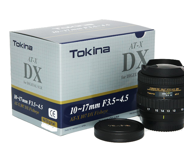 цены  Tokina AT-X 107 DX Fisheye 10-17mm F3.5-4.5 for Canon