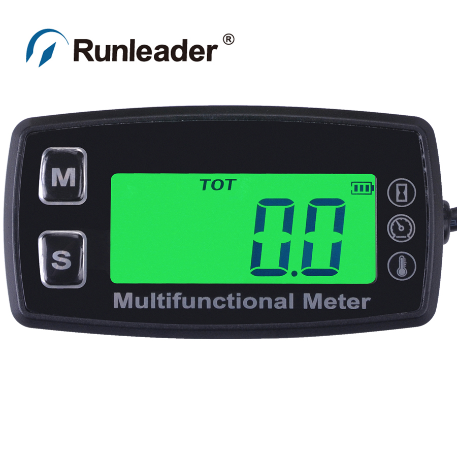 Digital RL-TS003 PT100 -20- +300 Celsius tach hour meter theomometer temp meter for dryer snowmobile pump Lawn trimmers cutters image