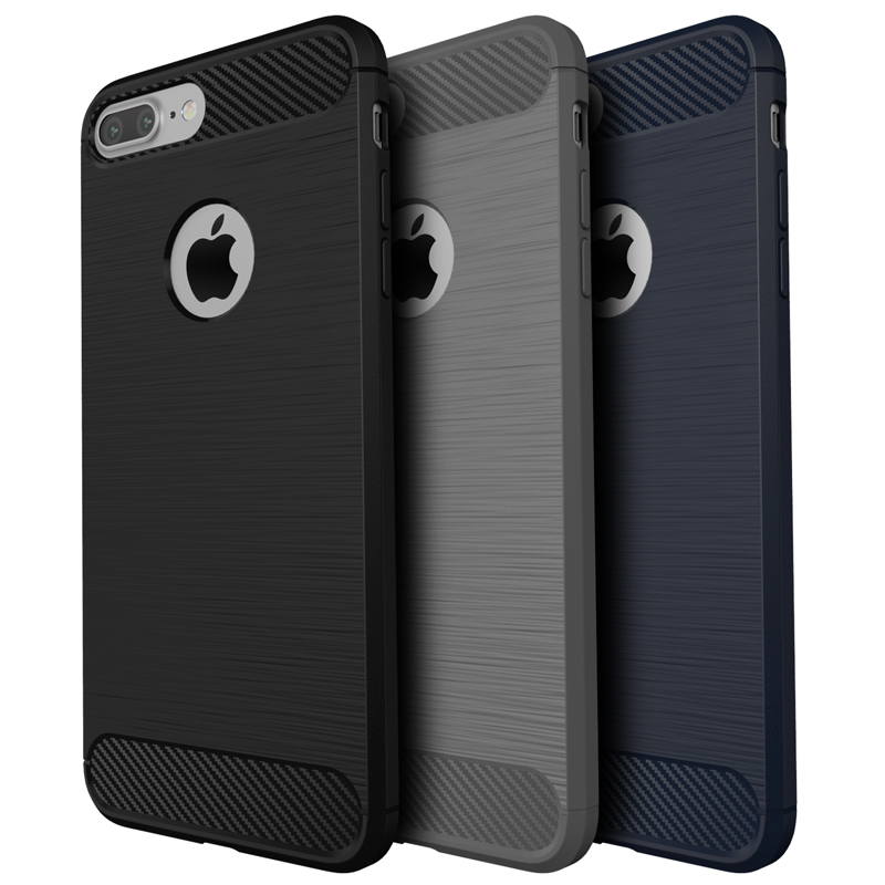 Jamular font b 2018 b font Newest Brushed Cases Carbon Fiber TPU Soft Cover For font