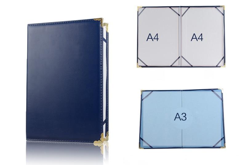 6K 8K 12K A4 A3 PU Leather Certificate Cover  Certificate Folder Blank Cover