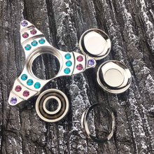 2017 New Arrival EDC Hand Spinner Fidget Toy Crwon Brass Material Toys Finger Gyro Stress Relievers Toys For kids and ADHD