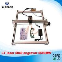 5500MW Desktop DIY Violet LY 5040 Laser Engraving Machine Picture CNC Printer 50 40CM Free Tax