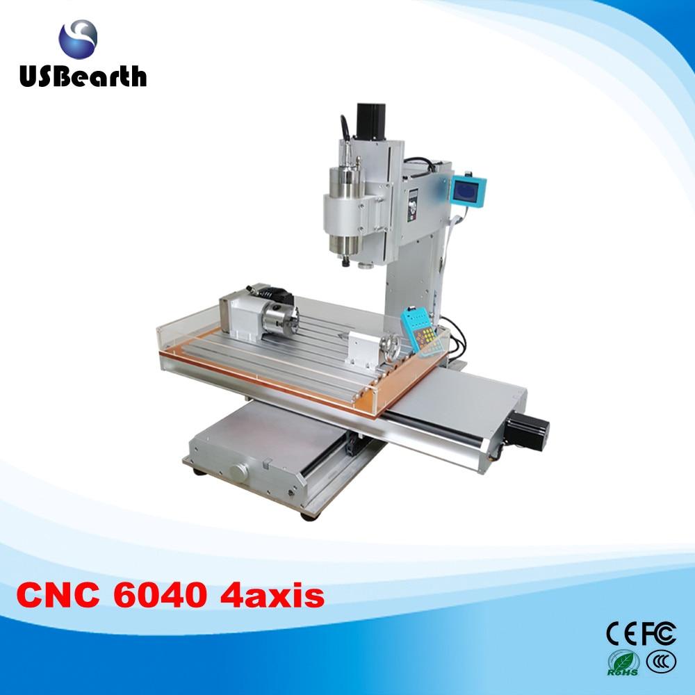 Pillar type CNC 6040 4axis wood carving machine CNC milling machine cnc 5 axis a aixs rotary axis plate type disc type for cnc milling machine