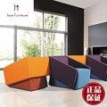 Único conjunto de sofá com sillas no escritório ou sala de estar mobiliário de lazer cadeira