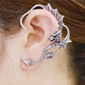 2016 Popular Gothic Unique Design Multi-color Dragon Shaped Punk Style Cool Stud Earrings For Women