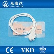 10 Pçs/lote Frete Grátis Compatível para CSI 6Pin Adulto sensor de spo2 Descartável Sonda, 1 M