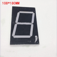 Free Ship 100pc Common Anode 5inch Digital Tube 1 Bit Digital Tube Display Red Digital Led