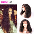 Best Quality 8A Grade Lace Front Human Hair Wigs 300% High Density Loose Curly Front Lace Wig With Baby Hair In Stock
