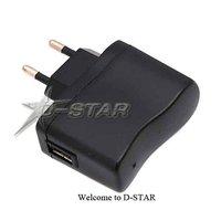 бесплатная доставка 50 шт. сетевой сетевой USB-зарядное адаптер зарядное устройство mp3 с ес разъем