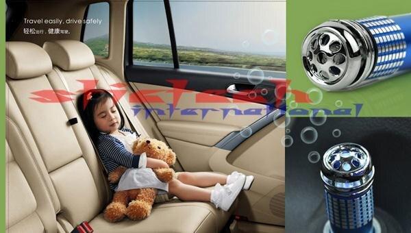 DHL или FedEx 500 шт авто освежитель воздуха очиститель кислородный ионизатор мини Синий