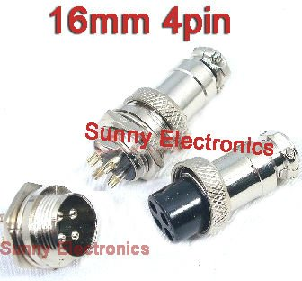 4 pin round trailer connector wiring diagram free picture free shipping 20pair 4 pin male   female diameter 16mm wire panel  pin male   female diameter 16mm