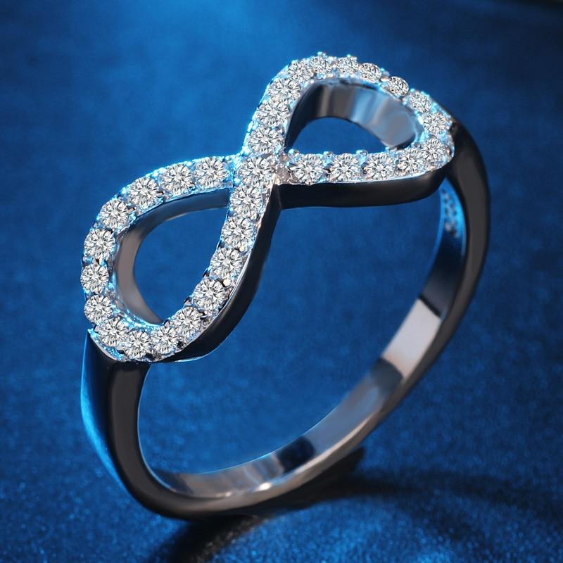 Moda 925 sterling zilver-srebro-nakit cz Infinity beskrajne ljubavi - Modni nakit - Foto 2