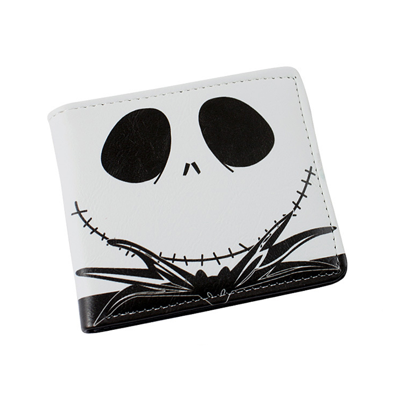 Multilayer colorful PU short wallet w-The Nightmare Before Christmas Sally Jack Skellington Dr. Finkelstein Santa Type B long style pu wallet of the nightmare before christmas skull jack with button and multi layer